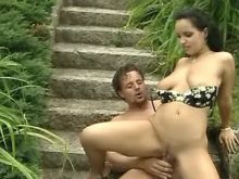 Young beautiful girl fuckin outdoor