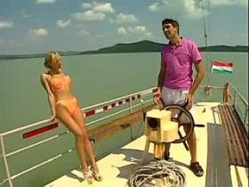 Fantastic models in orgy on a yacht