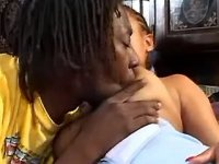 Horny black couple enjoys oral sex in 69 pose