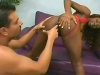 Chocolate cutie gets her cute tight asshole nailed